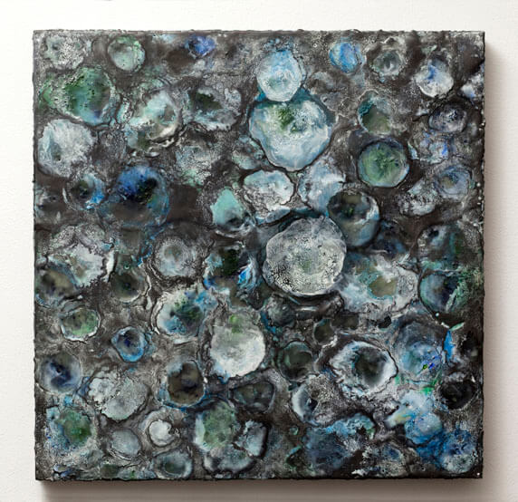 Graphite Painting (Blue), 2011